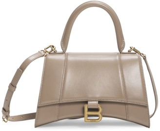 Balenciaga Small Hourglass Leather Top Handle Bag