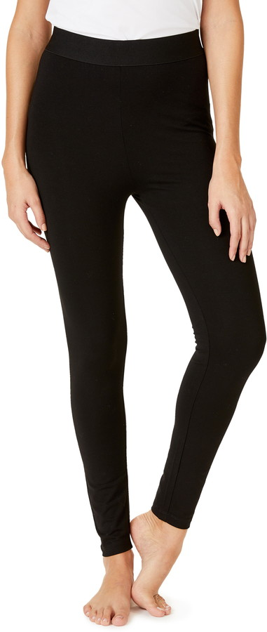 abf11c42831e3 Black Satin Leggings - ShopStyle
