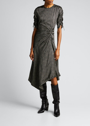 Jonathan Simkhai Vera Silk Handkerchief Dress