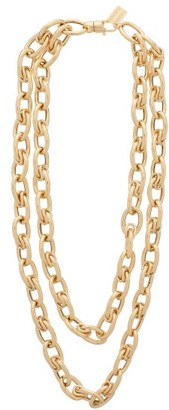 LAUREN RUBINSKI Double Layer 14kt Gold Chain Necklace - Yellow Gold