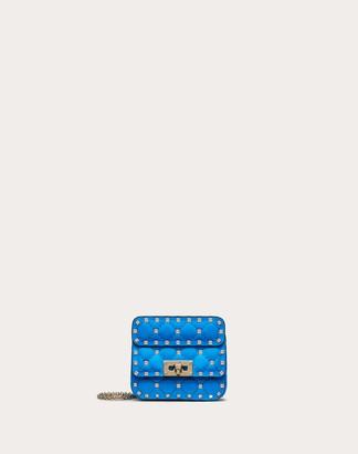 Valentino Micro Rockstud Spike Fluo Calfskin Leather Bag Women Neon Blue Calfskin 100% OneSize