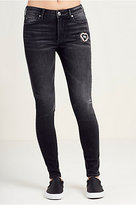 True Religion Halle Super Skinny Patched Womens Jean