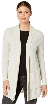 Pendleton Merino/Cashmere Rib Cardigan (Black) Women's Clothing