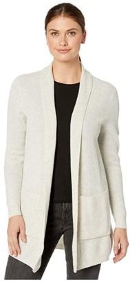 Pendleton Merino/Cashmere Rib Cardigan (Ivory Marl) Women's Clothing
