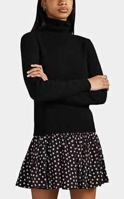 Saint Laurent Women's Rib-Knit Cashmere Turtleneck Sweater - Black