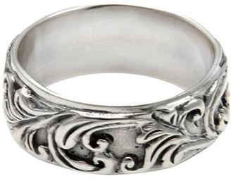 Novica Artisan Crafted Sterling Leaf Band Ring