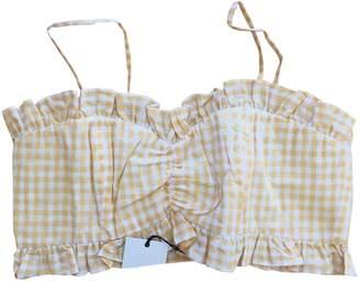LPA \N Yellow Cotton Top for Women