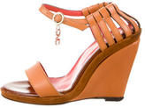 CNC Costume National Leather Buckled Wedges