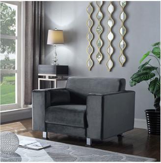 Chic Home Amarillo Grey Velvet Club Chair