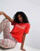Asos Coca Cola Acid Wash Tee & Legging Pajama Set