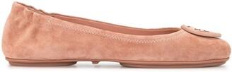 Tory Burch Logo Plaque Ballerina Shoes
