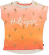 Tommy Hilfiger Cactus-Print Cotton T-Shirt, Big Girls
