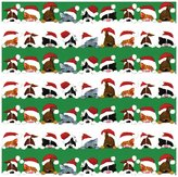 Caspari Continuous Wrapping Paper, Christmas Peek Boo, 8'