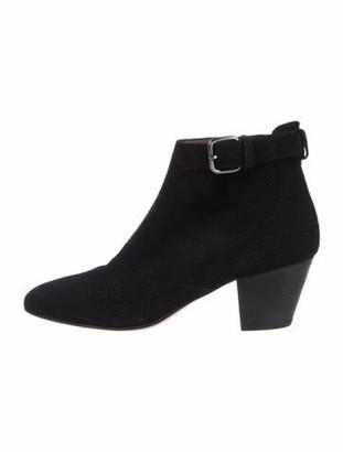 Aquatalia Suede Lasercut Accents Boots Black