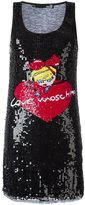 Love Moschino sequinned logo motif dress - women - Polyamide/Polyester/Viscose - 42