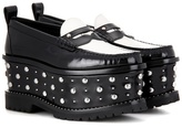 Givenchy Platform leather loafers