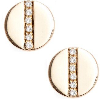 Ef Collection Screw Diamond Stud Earrings