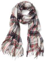 Gap Plaid fringe scarf