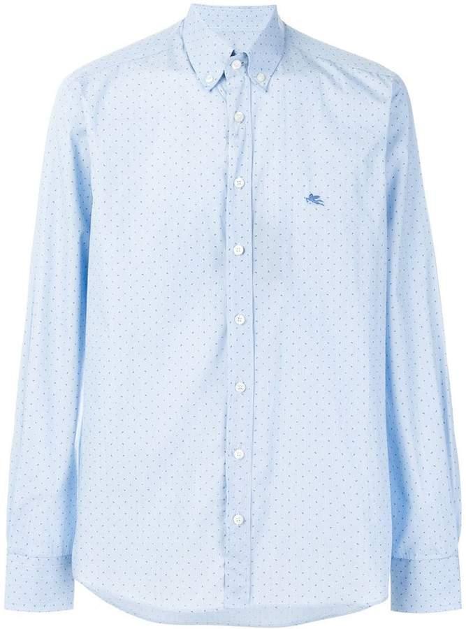 Etro micro paisley print shirt