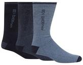 Ben Sherman Pack Of Three Blue Sport Sole Socks