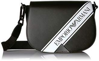 Emporio Armani Designer Smooth Leather Logo Shoulder Cross Body