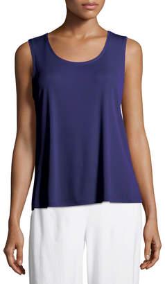 Eileen Fisher Petite Stretch Silk Jersey Scoop-Neck Tank Top