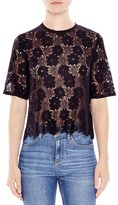 Sandro Mina Floral Lace Top