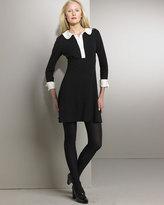 Contrast-Trim Dress