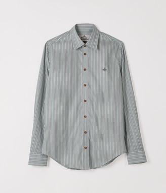 Vivienne Westwood Classic Extra Slim Shirt Green Stripes