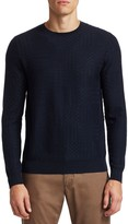 Saks Fifth Avenue Textured Wool Blend Sweater