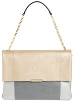 Ted Baker Phellia Pebbled Leather Shoulder Bag - Metallic