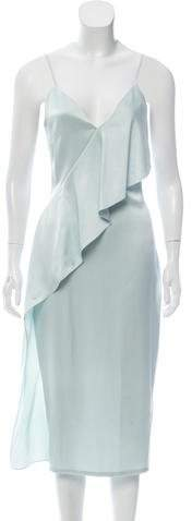 Cushnie et Ochs Silk Ruffle-Trimmed Midi Dress
