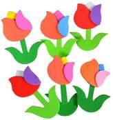 Panda Superstore 4 PCS Beautiful Tulip Flowers Pattern Nursery Classroom Decorate