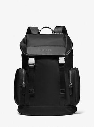 Michael Kors Hudson Logo Nylon Gabardine Backpack - Black