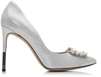Moda In Pelle Kalara Silver Leather
