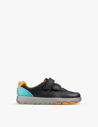 Clarks Rex Quest leather trainers 1-5 years