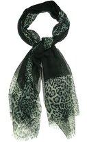 Calvin Klein Women's Leopard Border Oversized Wrap