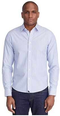 UNTUCKit Keermont Wrinkle Free (Blue) Men's Long Sleeve Button Up