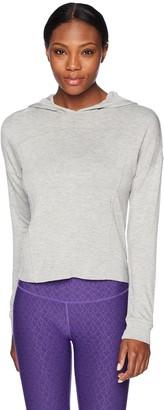 Andrew Marc Women's Crop Hooded Pullover