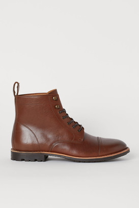 H&M Leather Boots - Beige