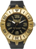 Everlast 33-217 Unisex Quartz Watch with Black Dial Analogue Display and Black Plastic or PU Strap EV-217-002