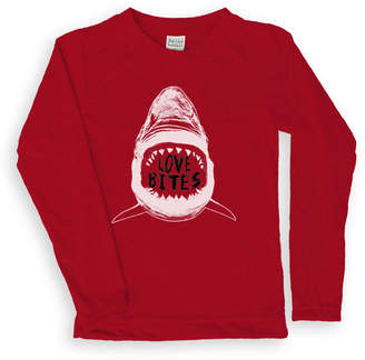 Urban Smalls Boys' Tee Shirts Red - Red 'Love Bites' Long-Sleeve Tee - Toddler & Boys