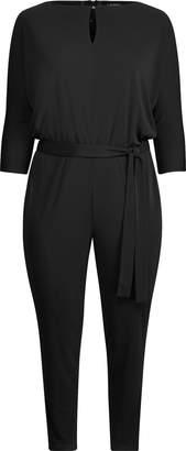 Ralph Lauren Three-Quarter-Sleeve Jumpsuit
