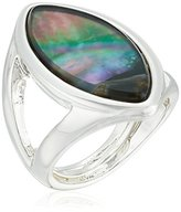"Robert Lee Morris Shades of Grey"" Oval Stone Cut-Out Ring, Size 8.5"