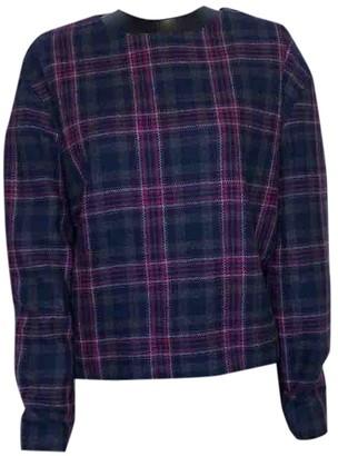 MSGM Navy Wool Knitwear for Women