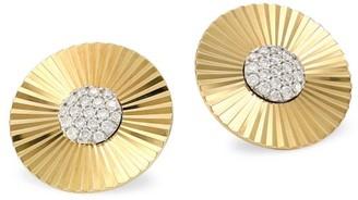 Phillips House Aura 14K Yellow Gold & Diamond Large Stud Earrings