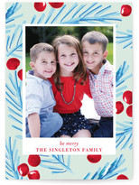 Minted Marker Holly Christmas Photo Cards