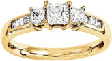 MODERN BRIDE 1 3/4 CT. T.W. Diamond 14K Yellow Gold 3-Stone Engagement Ring