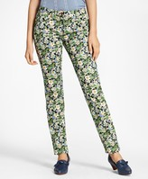 Brooks Brothers Slim-Fit Floral-Print Jeans