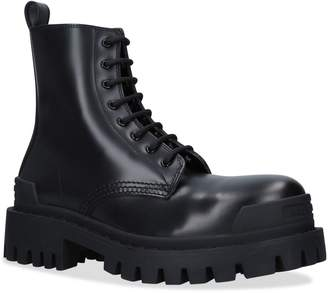 Balenciaga Leather Strike Boots